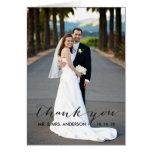 Einfache Handschrifts-Hochzeit danken Ihnen zu kar Karte