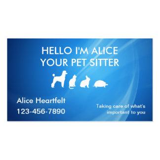 Einfache Haustier-Modell-Visitenkarten
