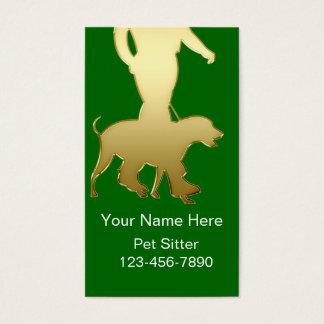 Einfache Haustier-Modell-Visitenkarten Visitenkarten