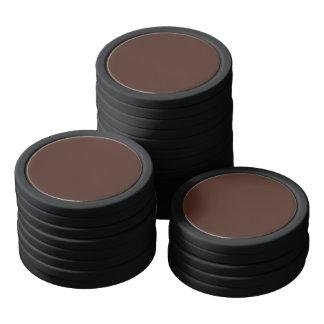 Einfache Herbst-Bronzefarbe Pokerchips