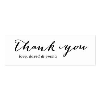 Einfache Kalligraphie danken Ihnen Visitenkartenvorlagen