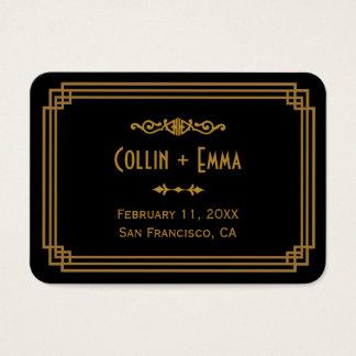Einfache Kunst-Deko-Schwarz-Hochzeits-Platzkarten Visitenkarte