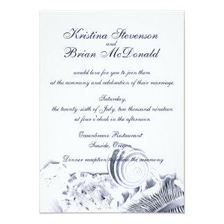 Einfache künstlerische Wedding 12,7 X 17,8 Cm Einladungskarte