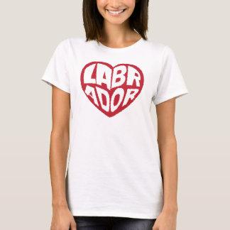 Einfache Labrador-Hündchen-Liebe T-Shirt