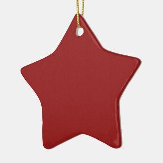 Einfache leere Rot-Schatten DIY addieren Keramik Stern-Ornament