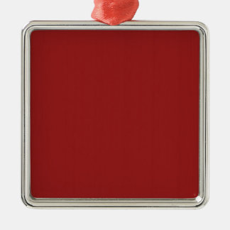 Einfache leere Rot-Schatten DIY addieren Quadratisches Silberfarbenes Ornament