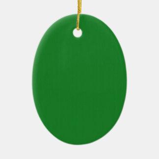 Einfache leere Schablone des Grüns DIY addieren Keramik Ornament
