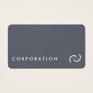 Einfache Leinenbeschaffenheits-Visitenkarten. Visitenkarte