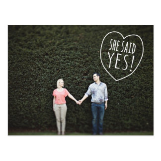 Einfache Liebe sagte sie ja Save the Date Postkarte
