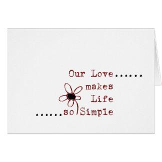 Einfache Liebeanmerkungen Karte