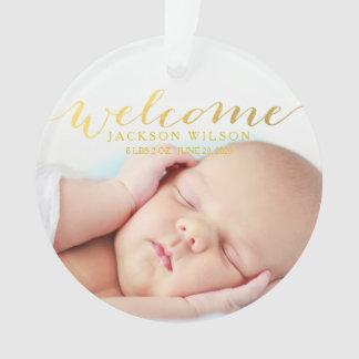 Einfache moderne Baby-Geburts-Foto-Mitteilung
