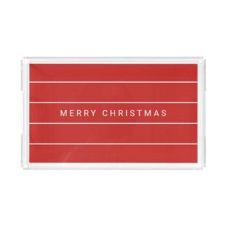Einfache moderne frohe Weihnachten Acryl Tablett
