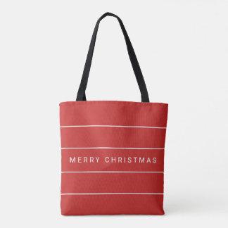 Einfache moderne frohe Weihnachten Tasche