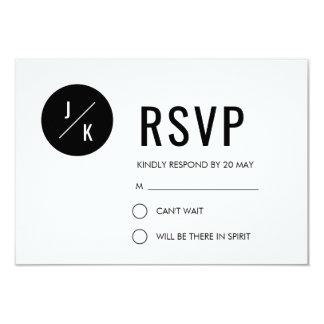 Einfache moderne Hochzeit UAWG-Karte - schwarzer Karte