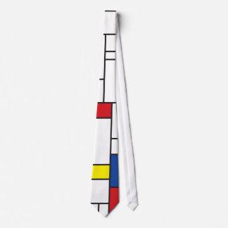 Einfache moderne Kunst-Krawatte Mondrian Bedruckte Krawatte