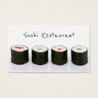 Einfache moderne Sushi-Visitenkarte Visitenkarten