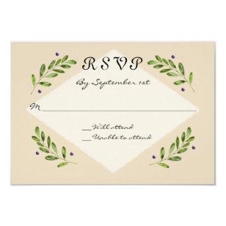 Einfache moderne UAWG Warteantwort-Hochzeit 8,9 X 12,7 Cm Einladungskarte