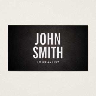 Einfache mutige Text-Journalist-Visitenkarte Visitenkarte