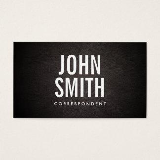 Einfache mutige Text-Korrespondent-Visitenkarte Visitenkarte