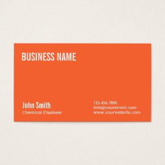 Einfache orange Chemieingenieur-Visitenkarte Visitenkarte