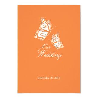 Einfache orange Schmetterlinge, die Mitteilung 2 Karte