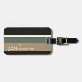 einfache, personalisierte elegante Taschenreise Kofferanhänger