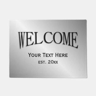 Einfache personalisierte willkommene Matte