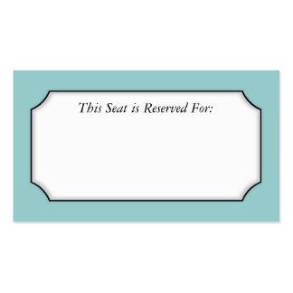 Einfache Platzkarte Visitenkarten