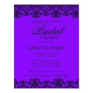 Einfache purpurrote schwarze 10,8 x 14 cm einladungskarte