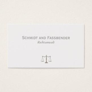 Einfache Rechtsanwalt Hellgrau Visitenkarte