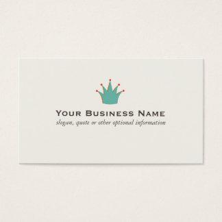 Einfache Retro Kronen-Visitenkarten Visitenkarte