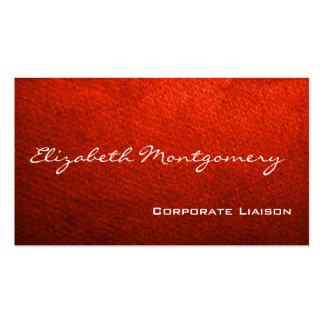 Einfache rote moderne berufliche Geschäfts-Karten Visitenkarten
