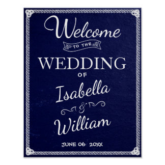 Einfache rustikale blauer Stein-Hochzeit des Poster