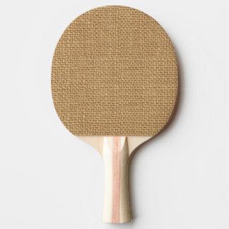 Einfache rustikale Leinwandmit Tischtennis Schläger
