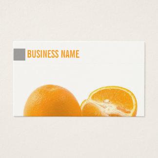 Einfache saftige frische Orangen-Visitenkarte Visitenkarte