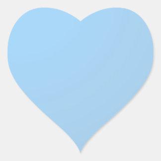 Einfache Schatten: Baby-Blau Herz-Aufkleber