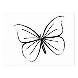 Einfache Schmetterlings-Linie Zeichnen Postkarten