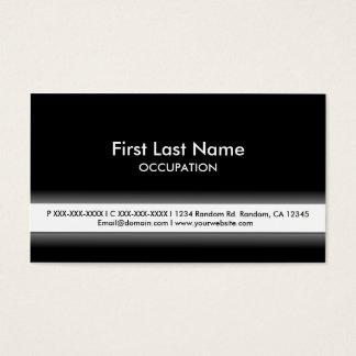 Einfache Schwarz-weiße kundengerechte Visitenkarten