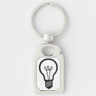 Einfache schwarze Glühlampe für viele kreativen Schlüsselanhänger