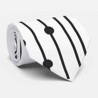 Einfache schwarze u. weiße Linie Muster-Krawatte Individuelle Krawatten