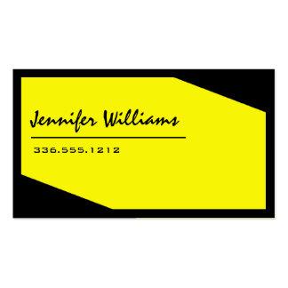 Einfache schwarze und gelbe unbedeutende visitenkarten