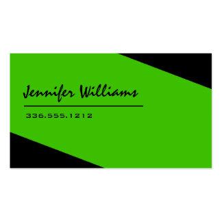 Einfache schwarze und grüne unbedeutende visitenkarten