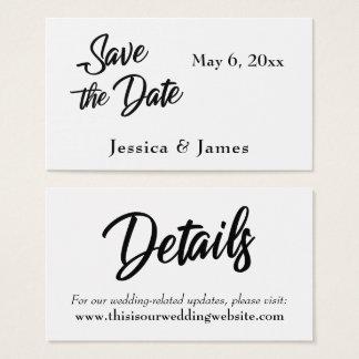 Einfache Skript-Typografie-Save the Date Karte