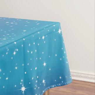 Einfache Sterne/blauer Steigungs-Hintergrund Tischdecke