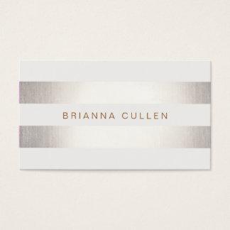 Einfache stilvolle gestreifte Imitat-Folie elegant Visitenkarten