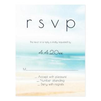 Einfache Strandhochzeits-uAwgpostkarten Postkarten