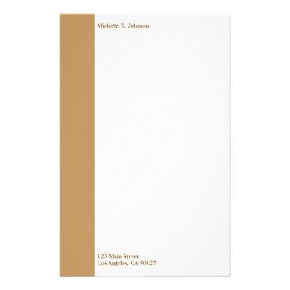 einfache tan Grenze Personalisiertes Druckpapier