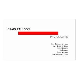 Einfache Trendy niedliche einfache rote weiße Visitenkartenvorlagen