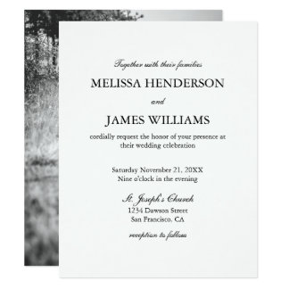 Einfache unbedeutende Foto-Hochzeits-Einladung Karte