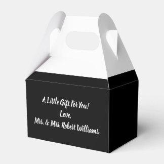 Einfache unbedeutende Schwarzweiss-Hochzeit Geschenkschachtel